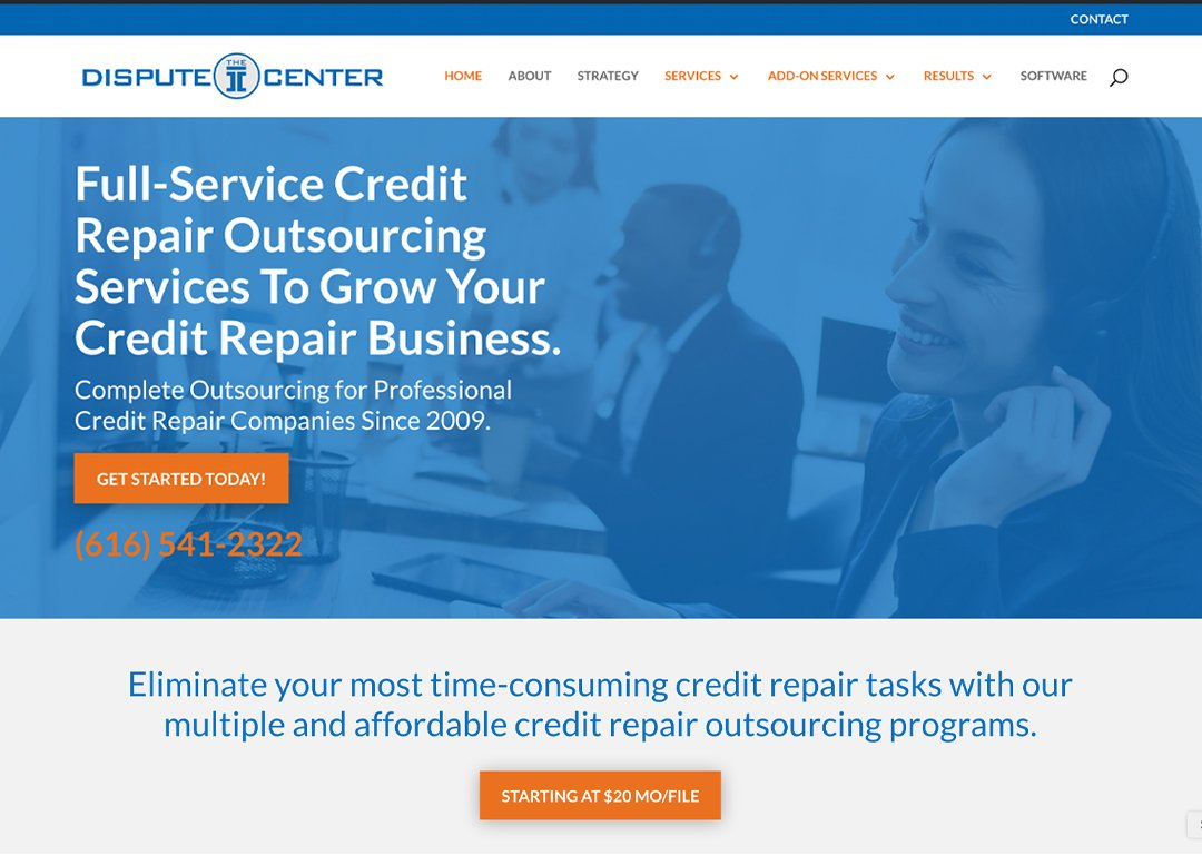 THe Dipute Center Website Design