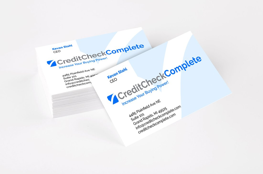 Credit Cehck Complete Business Cards